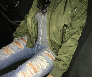 outfit, grunge, and jacket image