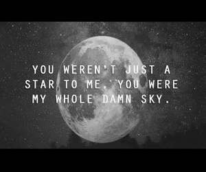 quote, stars, and sky image