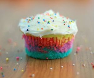 color, colorful, and cupcake image