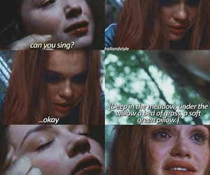 cry, holland roden, and teen wolf image