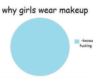 makeup, girl, and funny image