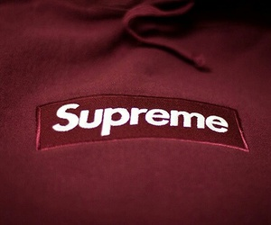 red, supreme, and theme image