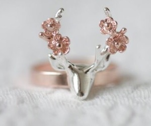 deer, girly, and jewellery image