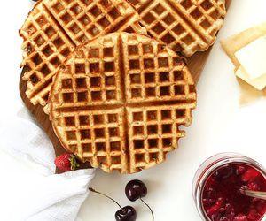 food, waffles, and sweet image