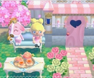 animal crossing, dog, and flowers image