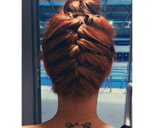 hair, pool, and tattos image