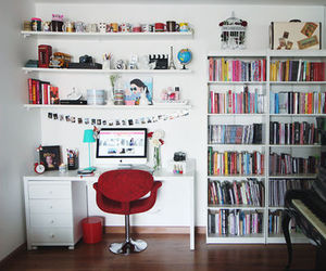 room, book, and decor image