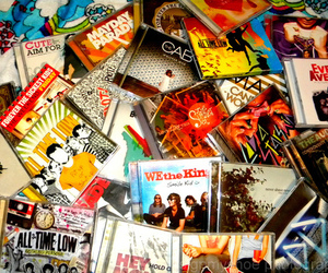 all time low, paramore, and cd image