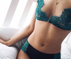 bra, fashion, and lace image