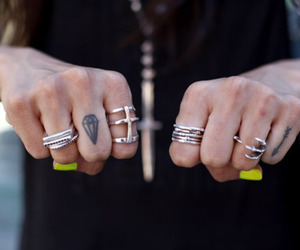 rings, tattoo, and fashion image