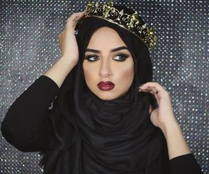 hijab, fashion, and black image