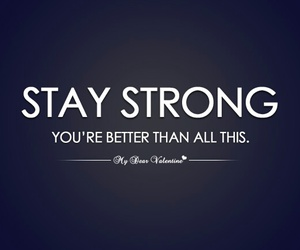 strong, quote, and life image