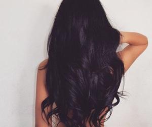 beautiful, hair, and black image