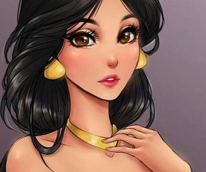 disney, aladim, and jasmine image