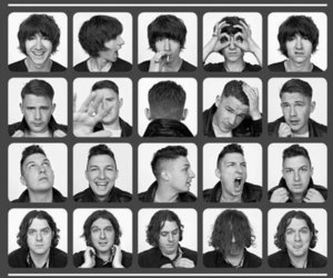 arctic monkeys and black and white image