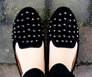 fashion, loafers, and studded image