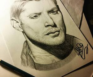 commission, dean winchester, and green eyes image