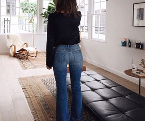 flare, jeans, and fitting image