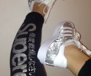 glitter, adidas, and superdry image