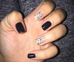 art, black, and black nails image