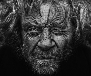 black and white, old man, and photography image