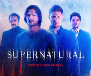 supernatural, crowley, and castiel image
