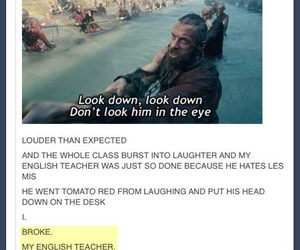 class, english, and funny image