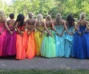 dress, goals, and rainbow image