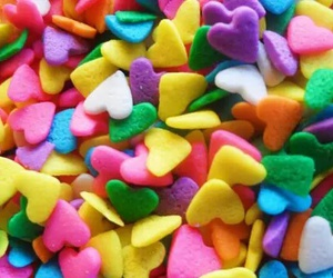 heart, colorful, and hearts image