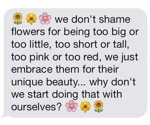 flowers, quotes, and true image