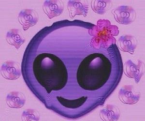 alien, emoji, and grunge image