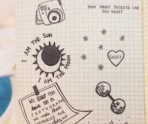 notebook, art, and bored image