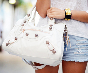 fashion, bag, and shorts image