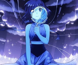steven universe, mirror, and lapis lazuli image