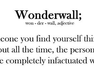 wonderwall, love, and quote image