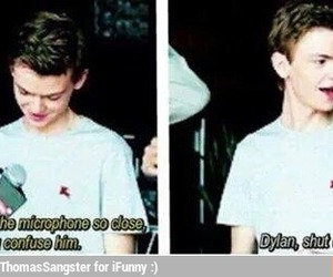 thomas sangster, dylan o'brien, and maze runner image