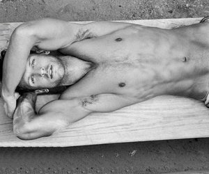 black and white, Hot, and boy image