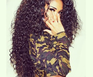 girl, curly hair, and curls image