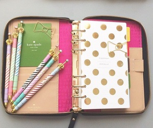 kate spade, planner, and school image
