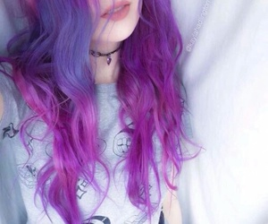 girls, hair style, and purple image