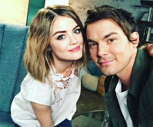 lucy hale, tyler blackburn, and pretty little liars image