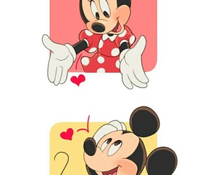 mickey mouse and love image