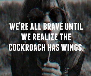 brave, cockroach, and funny image