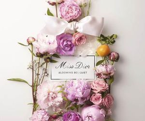 flowers, perfume, and dior image