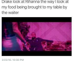 Drake, food, and funny image