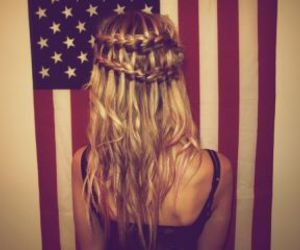 hair, girl, and usa image