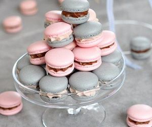 sweet, pink, and ‎macarons image