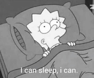 sleep, simpsons, and lisa image