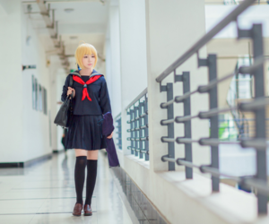fate stay night cosplay, cute anime girl cosplay, and saber cosplayer image
