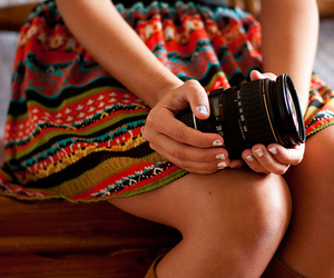 camera, girl, and girly image